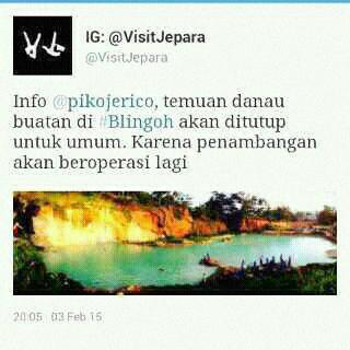 Danau Di Desa Blingoh Donorojo Jepara Akan Di Tutup?