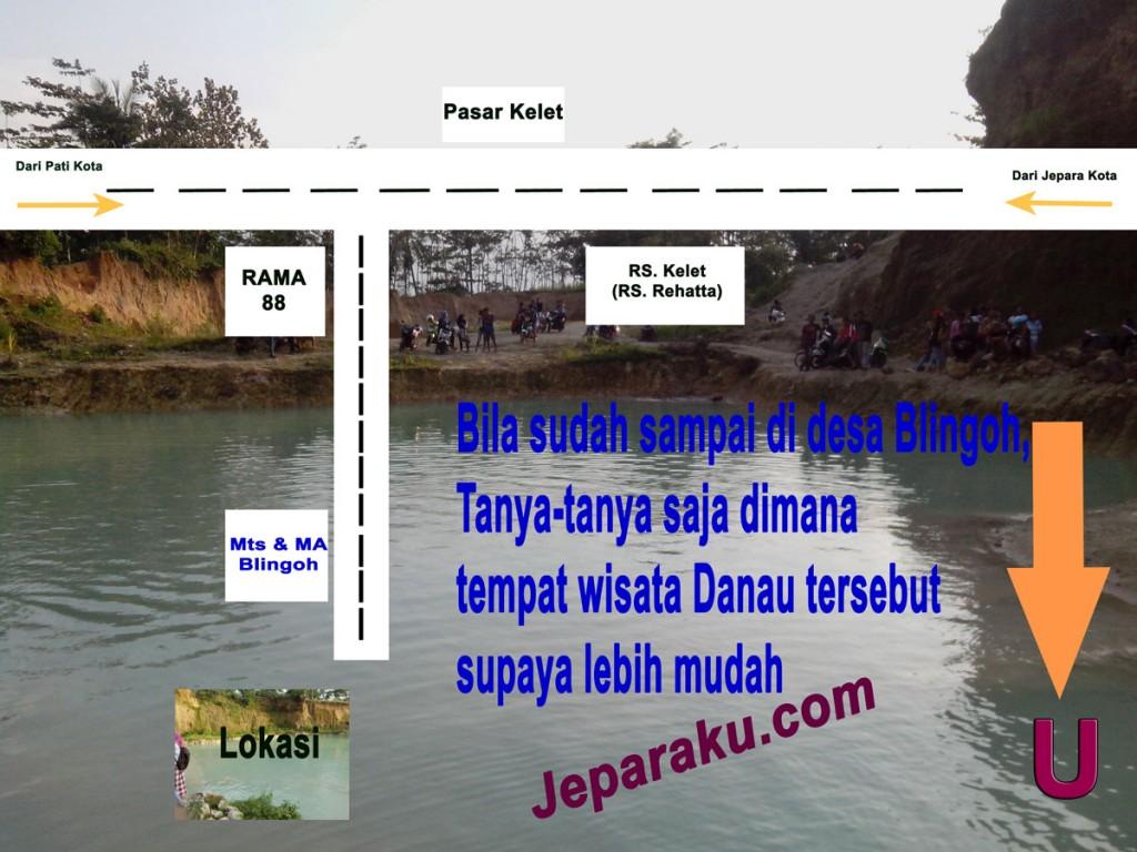 rute perjalananmenujur danau di blingoh donorojo jepara