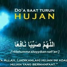Hujan Deras dengan Doa