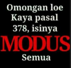 pasal-modus